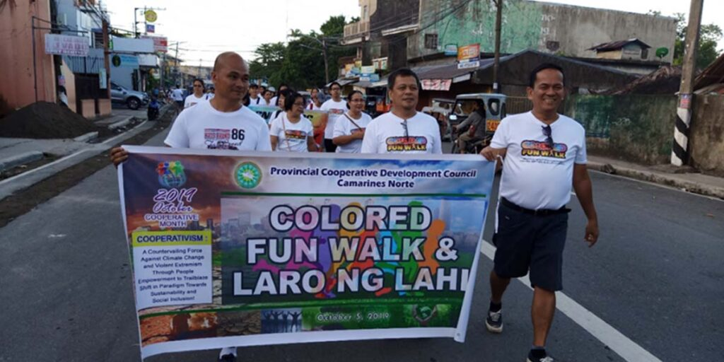 Colored Fun Walk: kicked off of the 2019 celebration of Coop month